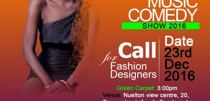 (SPONSORED) Nigeria Fashion Music and Comedy Show 2016 Call for Fashion Designers