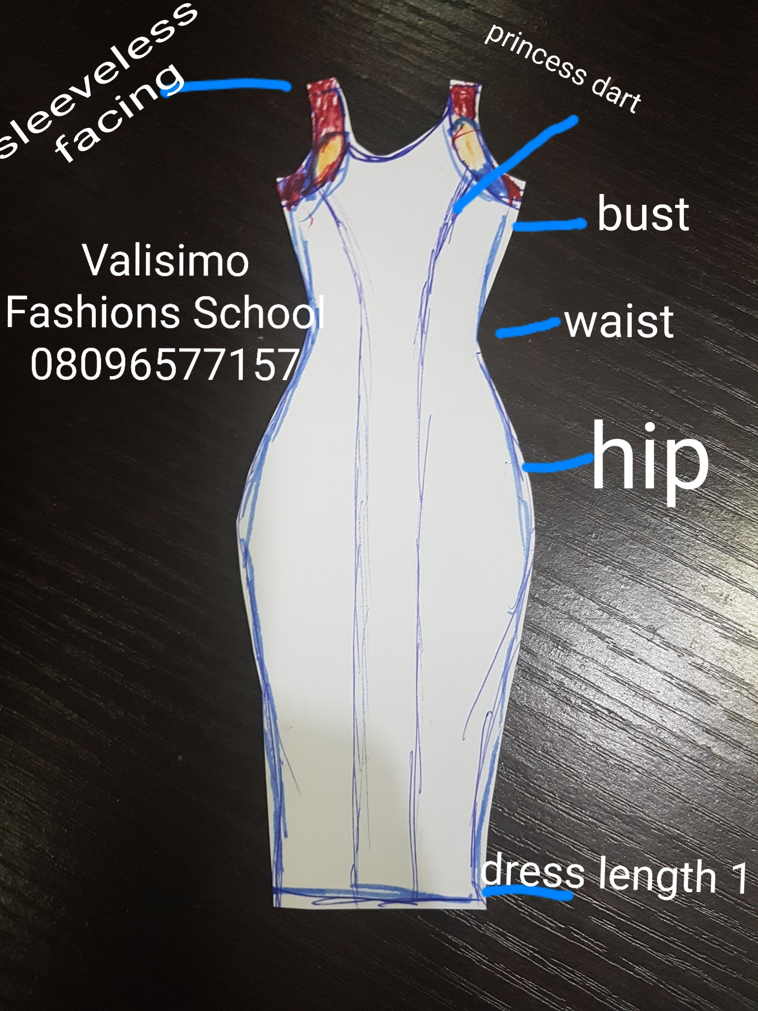 Sleeveless Blue Gown by CEO Olumi
