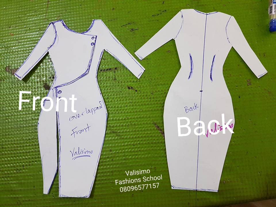 Overlapped front block Corporate Dress Free Hand Paper Guide