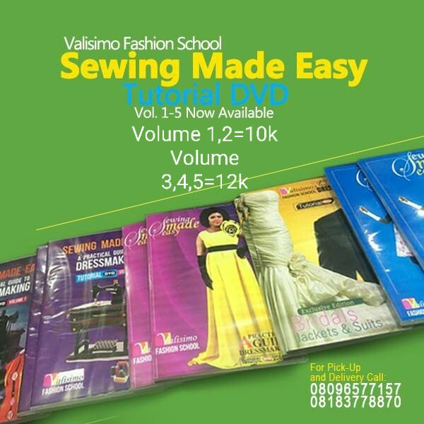 Sewing Made Easy Tutorial DVDs (Volumes 1-5)