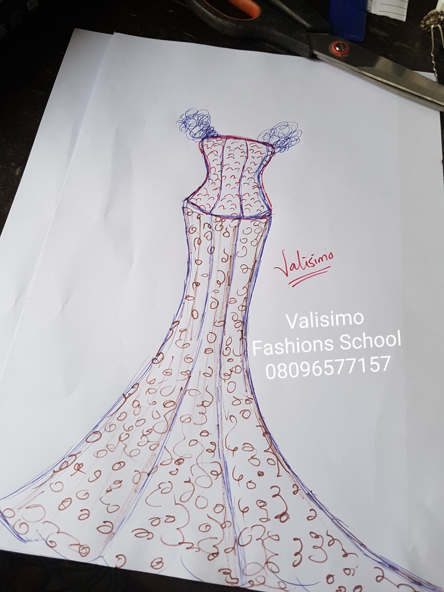 Happy Valentine! Illustrations For my Val dress Part 1