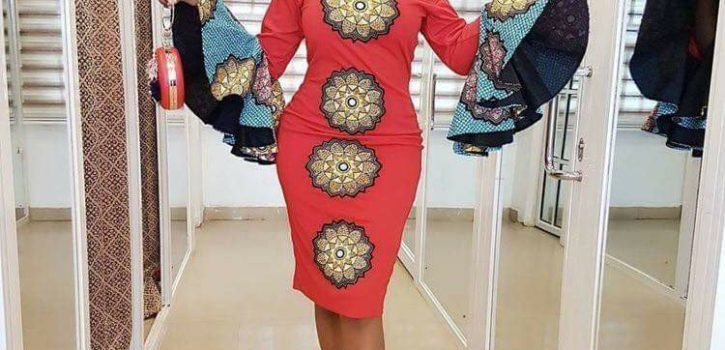 Fitted dress with flare detailed sleeve illustrated (Credit facebook picture)