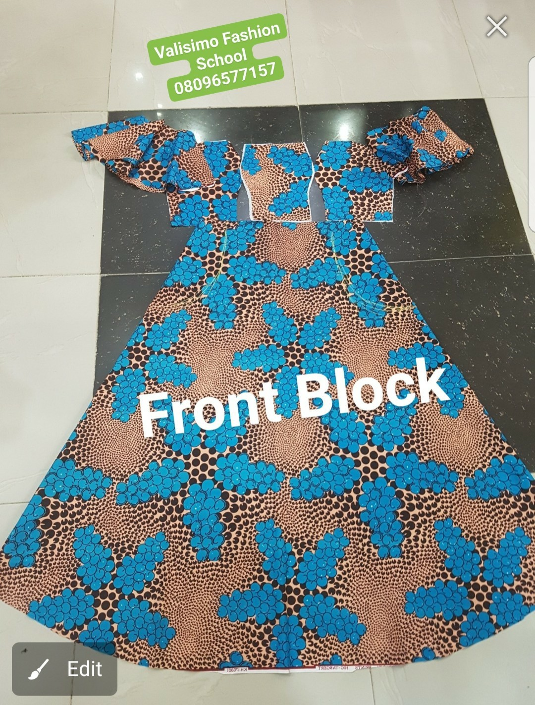 Simple Ankara dress illustrations