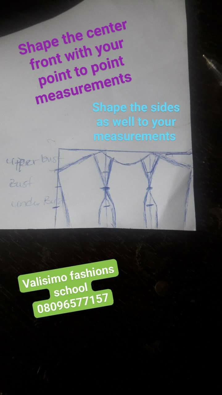 Halter neck cropped top with Volumed skirt illustration (picture credit facebook)