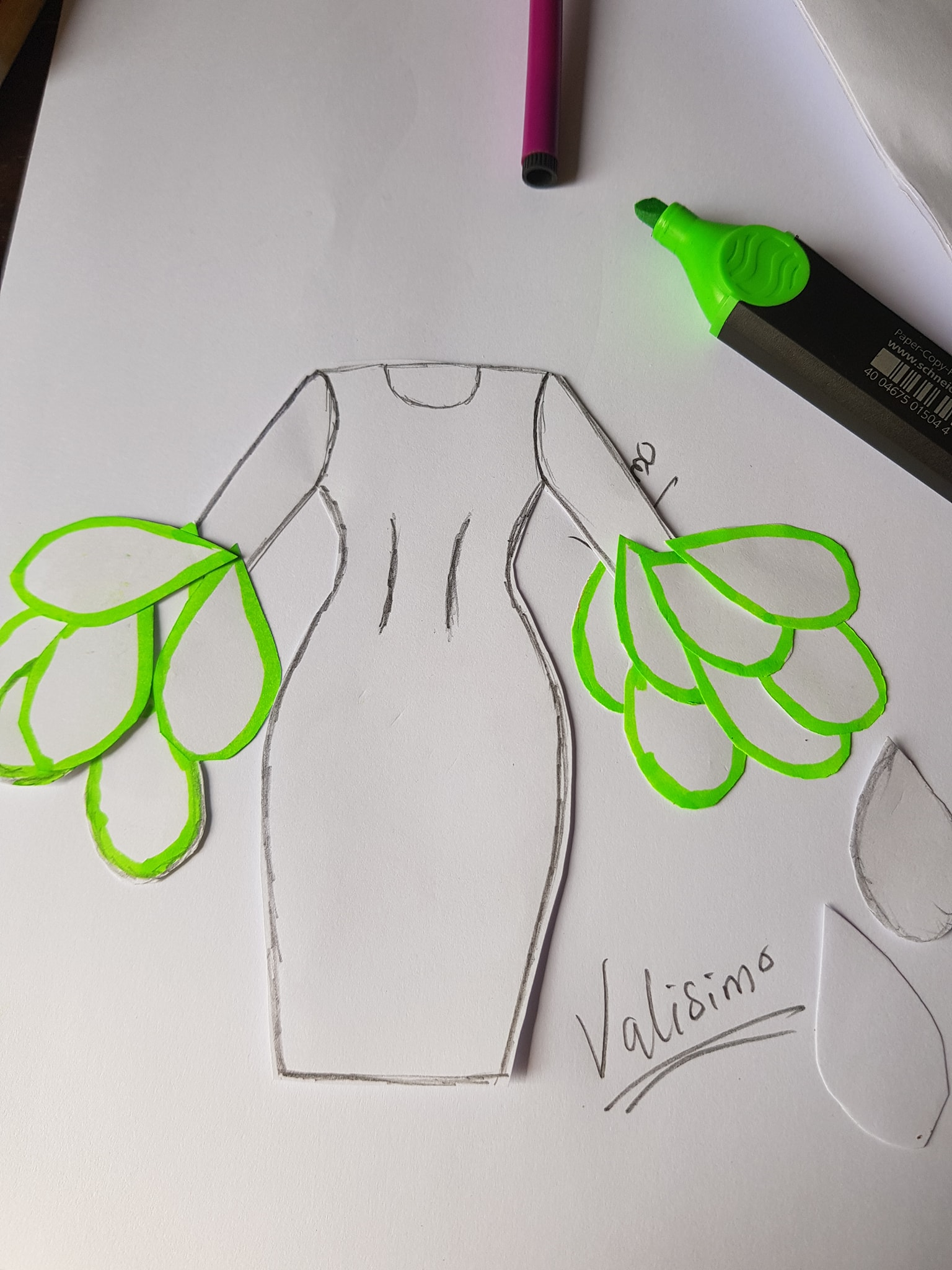 How to make the petals design dress