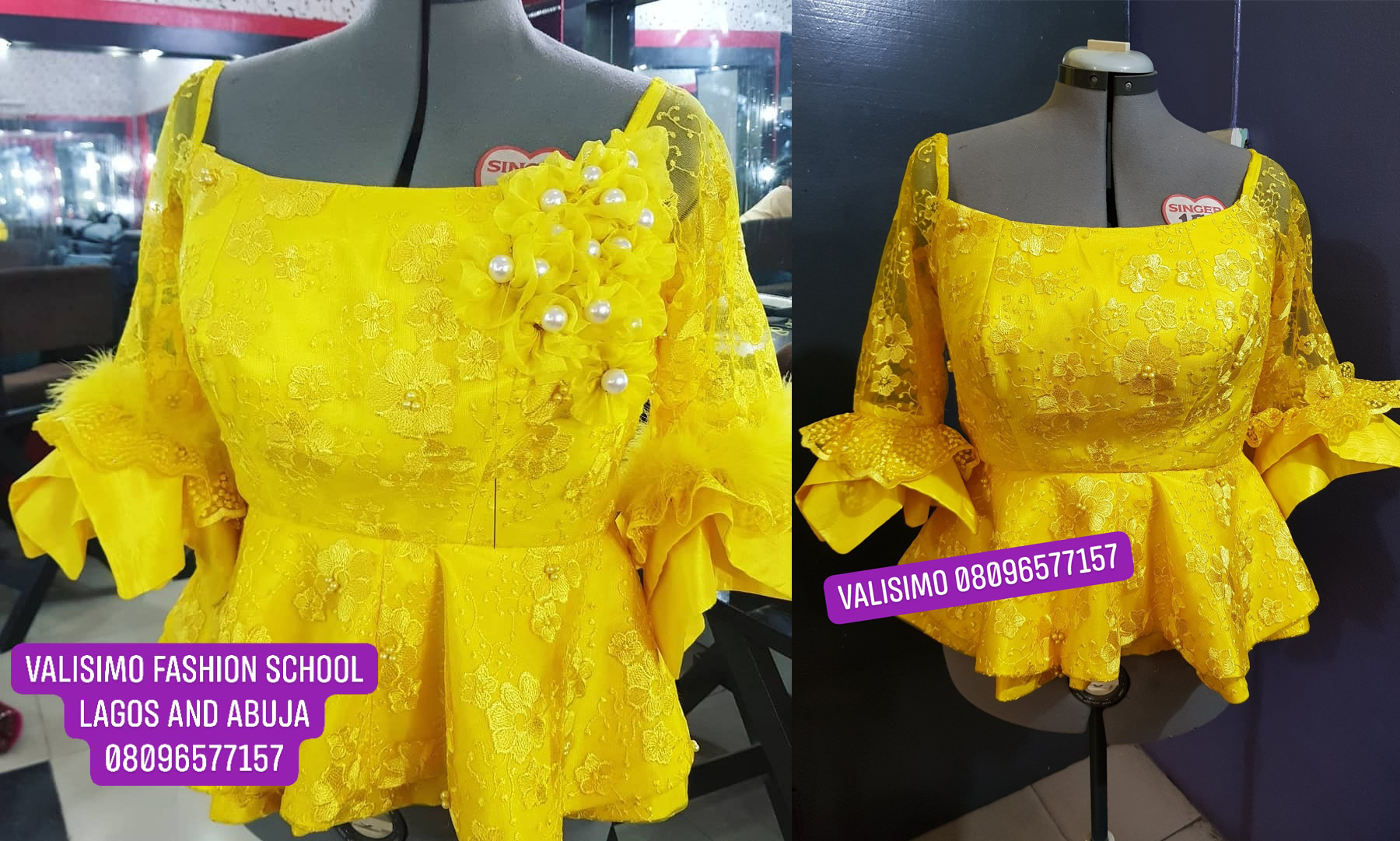 Five piece skirt and blouse with organza rose detail tutorial