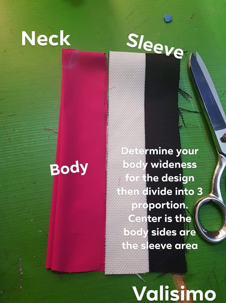 How to cut a Kaftan (Credits: Facebook picture)