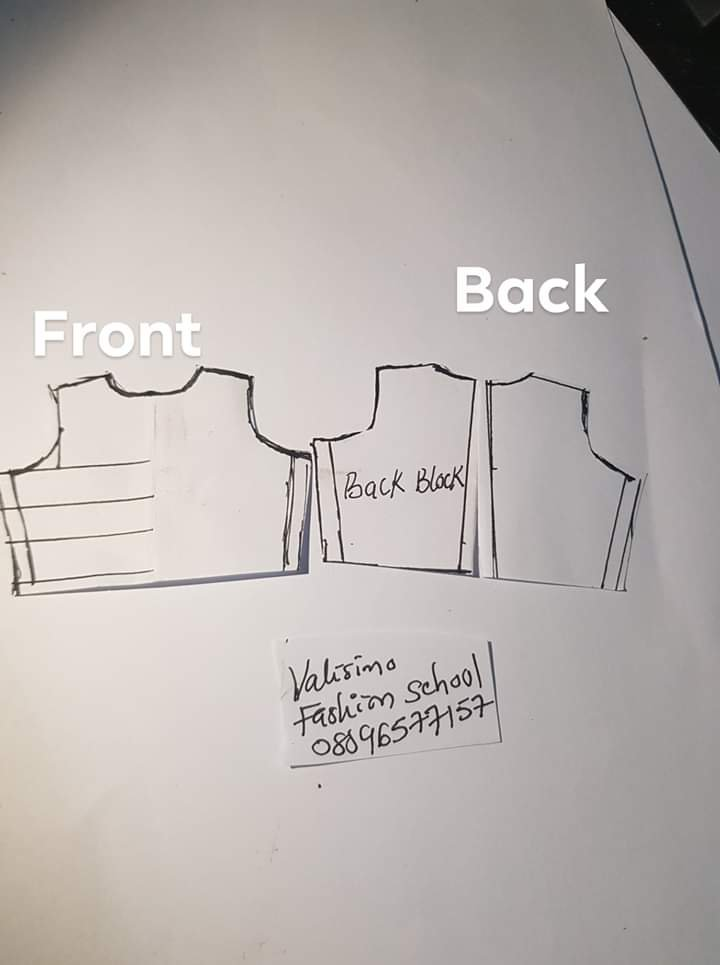 Flared sleeves dress tutorial (Picture culled from Facebook)