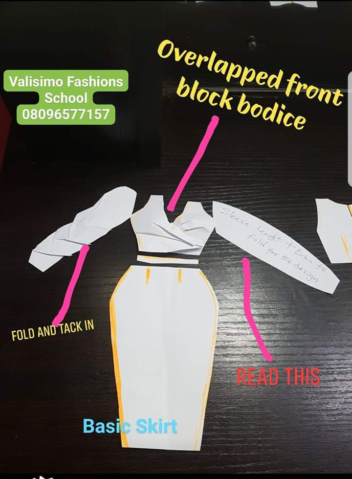 Another lovely overlapped dress design explained