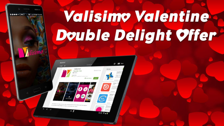Valisimo Sewing Tutorial app promo. Enjoy Double value this Valentine