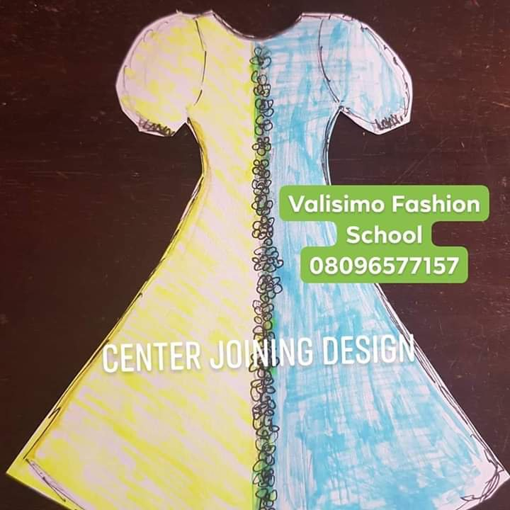 Center-Joined Dress design illustrated